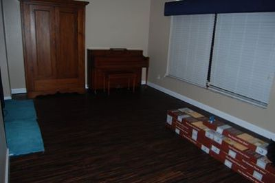Allure flooring partially complete in living roomjpg