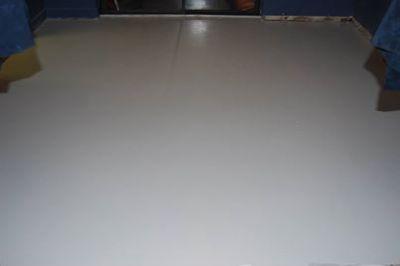 game room floor sealed