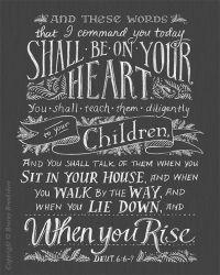 teach children diligently Deuteronomy 6 6-7