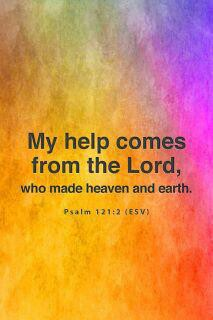 Psalm 121 2 My help comes from the Lord pastel bkg