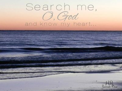 psalm 139 23 24 Search Me O God over water