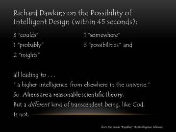 Richard Dawkins on the Possibility of Intelligent Design