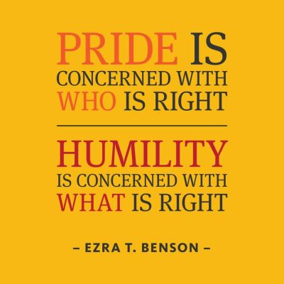 a lesson in humility. and a reminder.