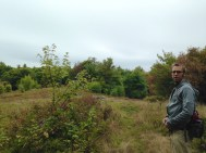 Crossing a meadow.