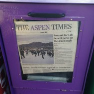 We were all on the front page of the Aspen times.