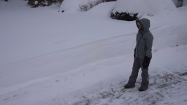 Derek taking pics from the 5' snow banks.
