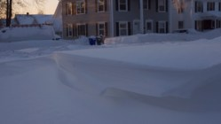 Driveway drifts are annoying but pretty.