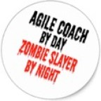Badge - Zombie Coach by Day, Zombie Slayer by Night