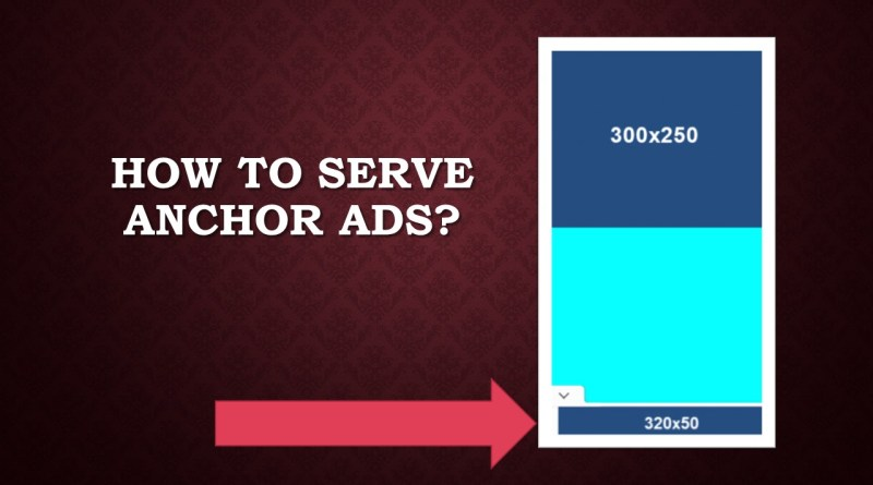 How to serve anchor ads
