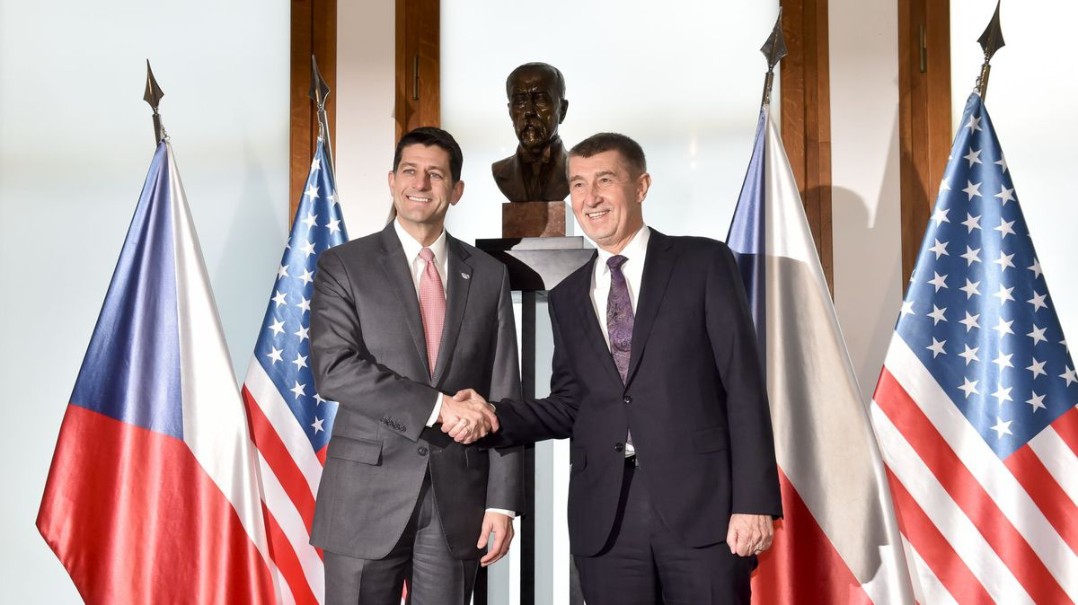 Czech Prime Minister Andrej Babis Meets US House Speaker Paul Ryan in Prague