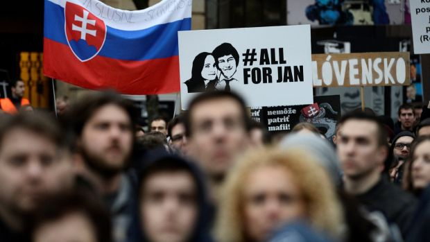 Rally for Slain Slovak Journalist Jan Kuciak