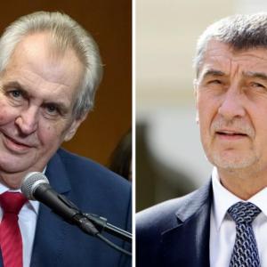 Milos Zeman Andrej Babis