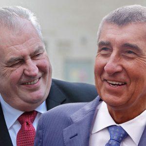 Andrej Babis and Milos Zeman