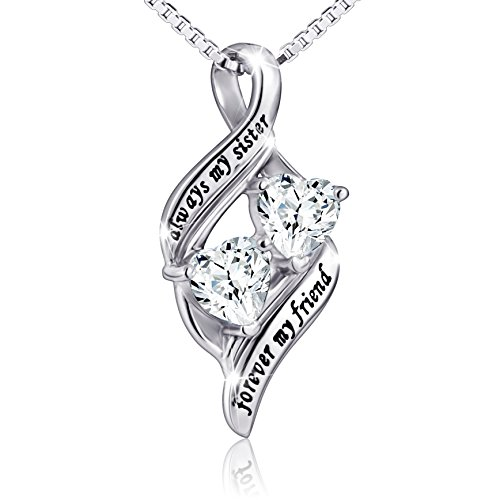 925 Sterling Silver Mother and Daughter Forever Love Heart