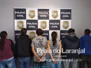 SEIS  pessoas foram presas durante a ação
