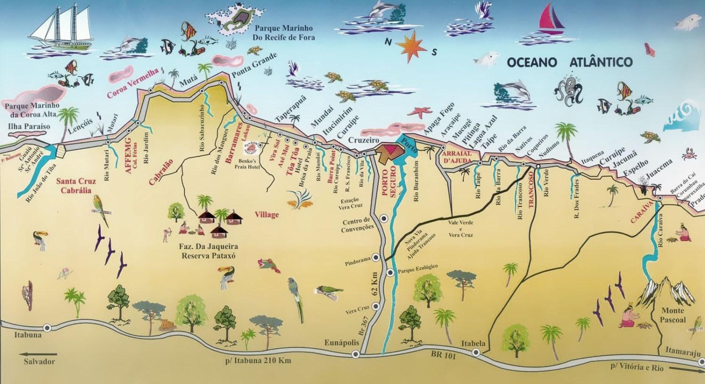Mapa de Porto Seguro