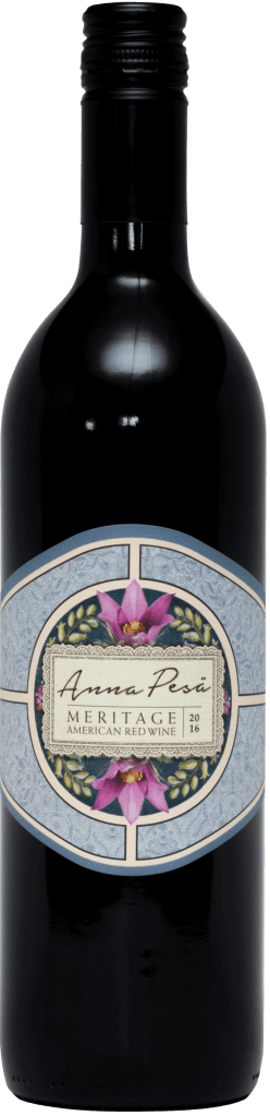A bottle of Anna Pesa Meritage 2016