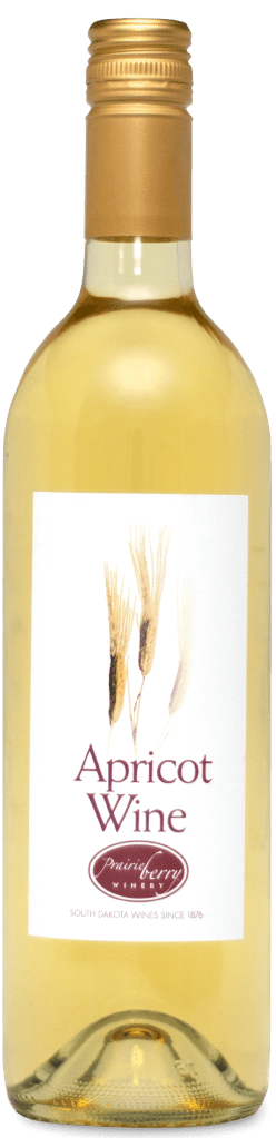 A bottle of Apricot wine.