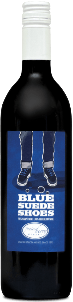 A bottle of Blue Suede Shoes