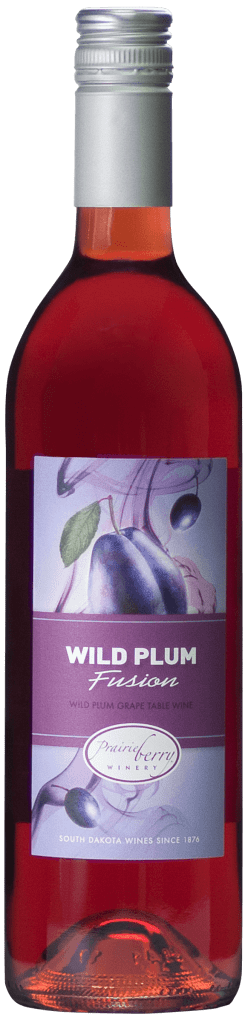 A bottle of Wild Plum Fusion wine.