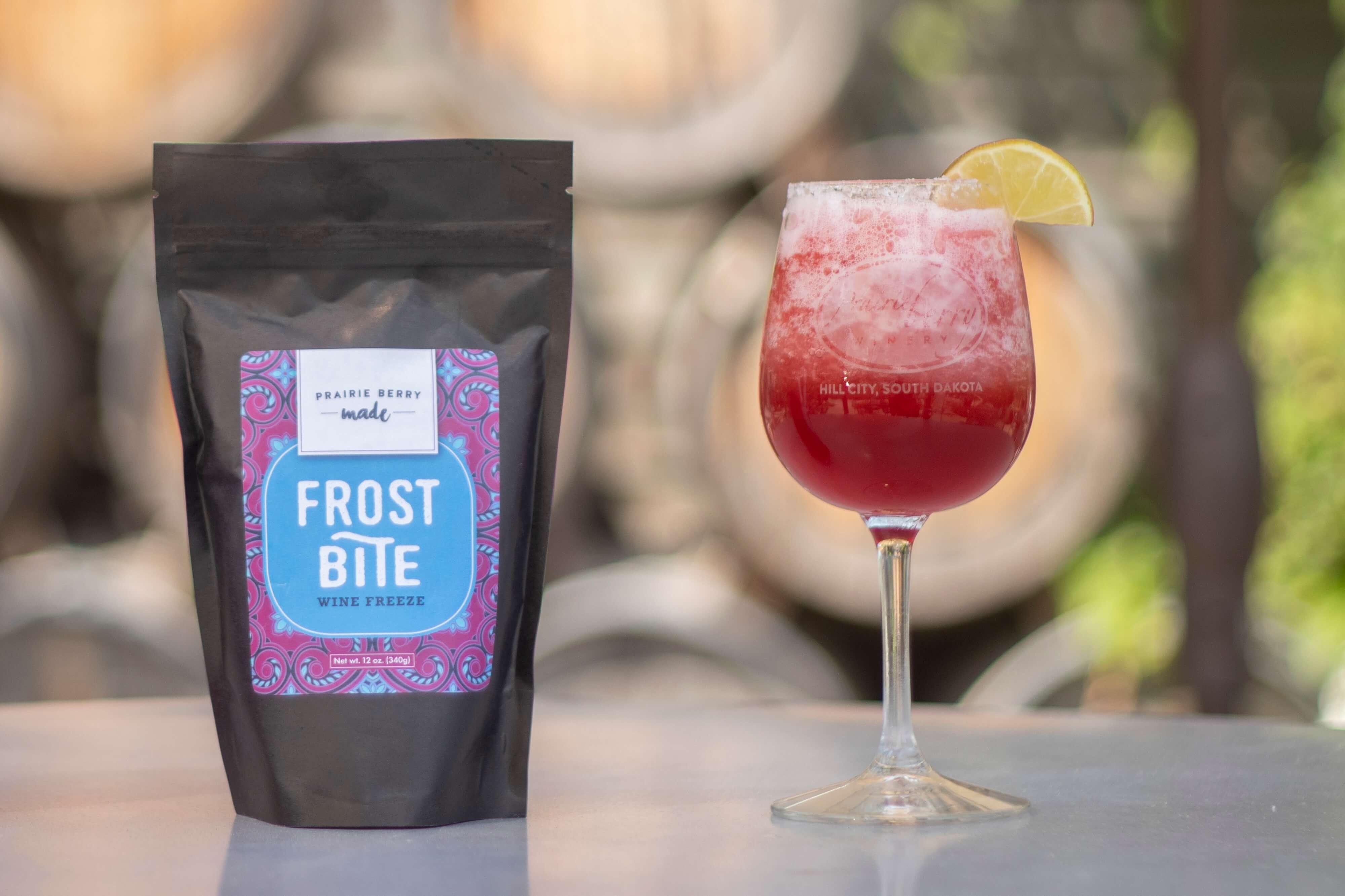 Frost Bite Wine Freeze by Prairie Berry Winery turns your favorite wine into a frozen, slushy, snow cone-like treat