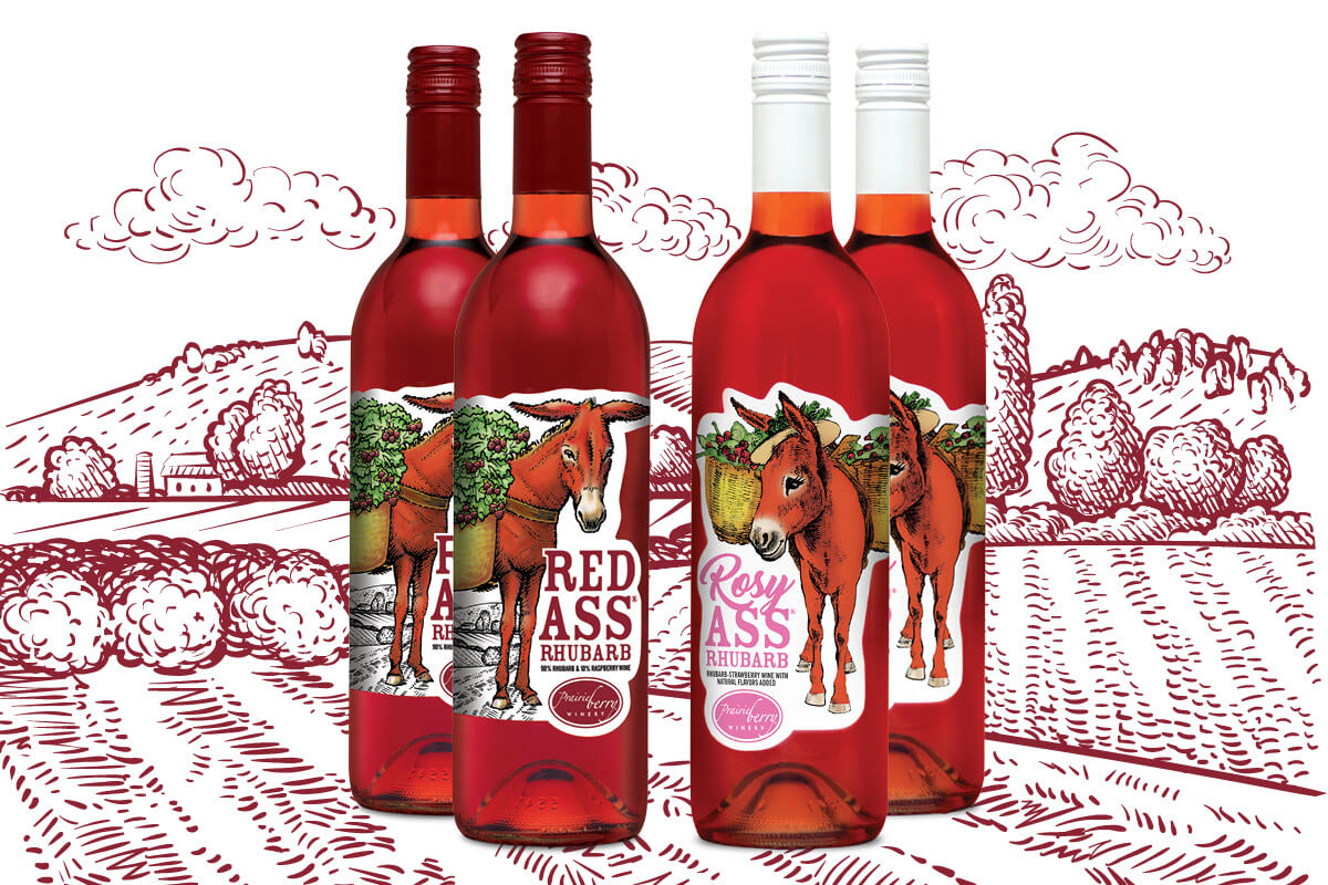 The FantASStic Pack features two bottles of Red Ass Rhubarb and two bottles of Rosy Ass Rhubarb for $75 and includes free shipping!
