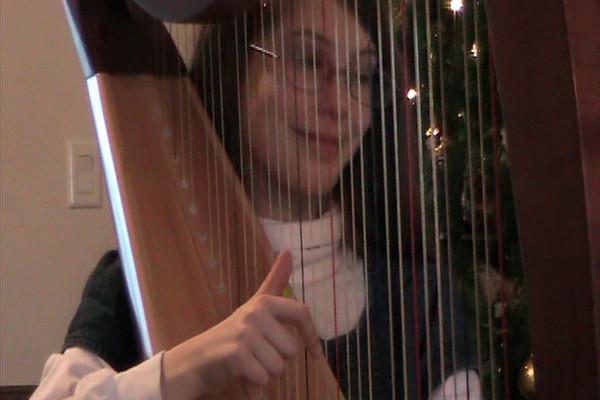 O Holy Night: Kaira on Harp 12/09Arrangement by Sylvia Woods