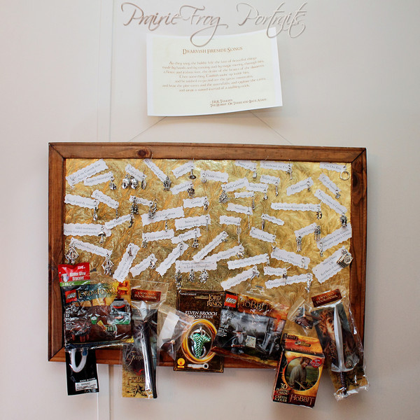 Prize Board with charms and other treasures (Click to enlarge to see the charms)