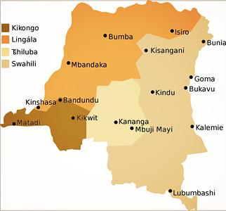 Major Bantu Languages in the DRC