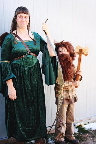 LegoLass, sister to Legolas (My sister, Lorelle), and Gimli (Kieran)