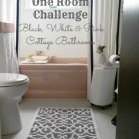 One Room Challenge Week 6 - A Glam Cottage Bathroom Reveal