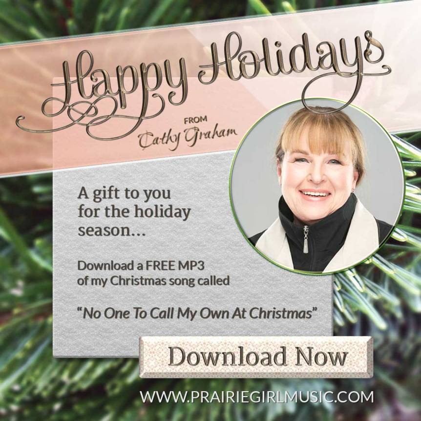 "Cathy Graham Christmas Song ""No One To Call My Own At Christmas"""
