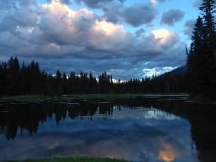 island lake dusk