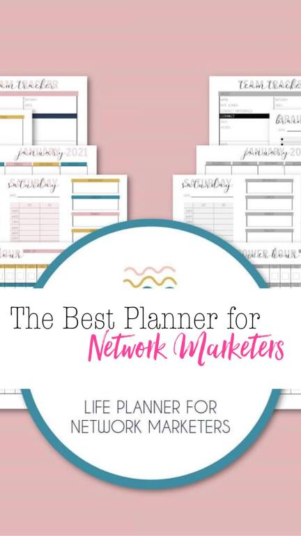 best planner for network marketers priarie glow