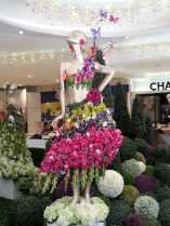 One of the new mannequins dressed in a floral flock at the entrance to one of West Edmonton Mall's food courts