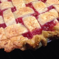 My first lattice cherry pie