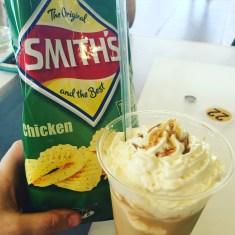 Chicken Chips and Aussie iced coffee
