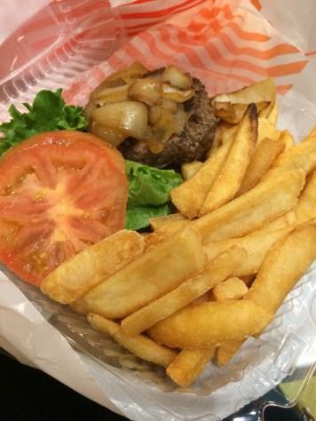 Junior's steakburger. Celebration lunch!