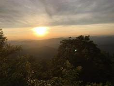 Driving home to DC, stopping first for a sunset drive through the Blue Ridge Mountains