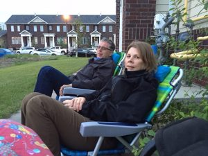 Lois and Murray waiting for fireworks