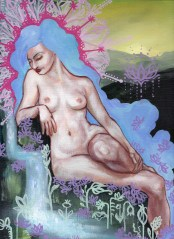 Nude Dreamer by the Stream