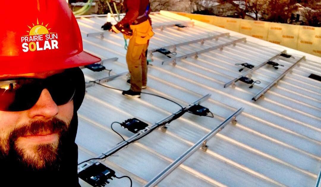 Metal roof solar panel installation in saskatchewan