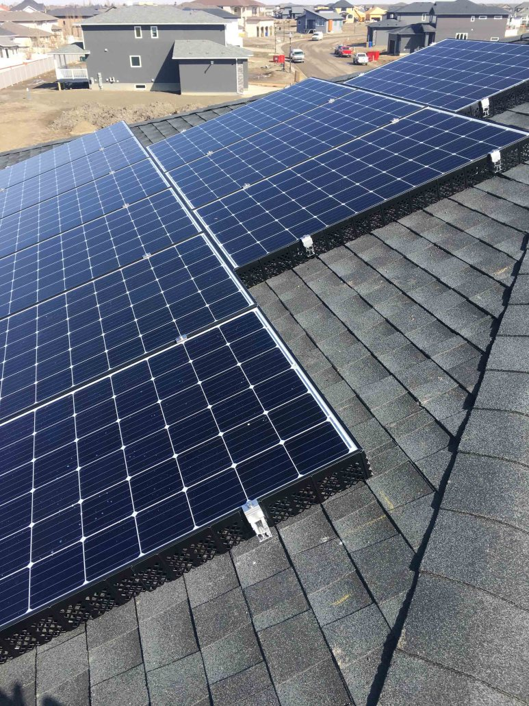 Solar Panels on a roof moose jaw