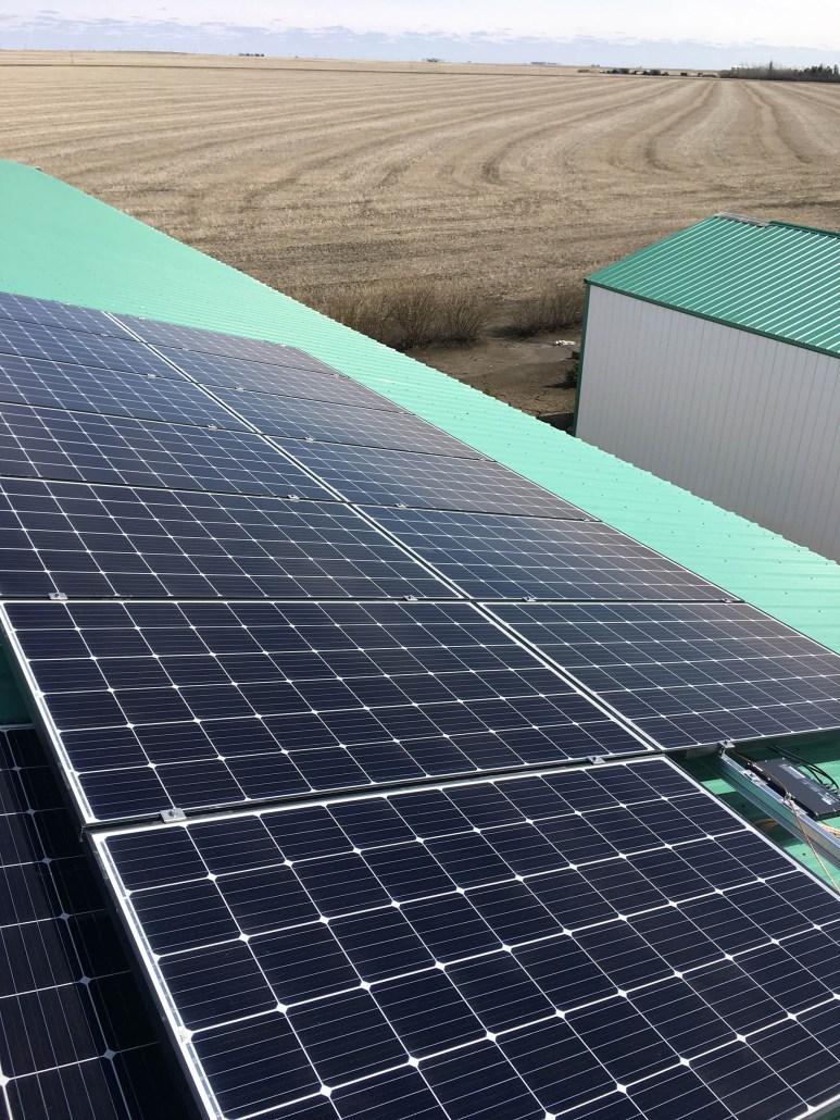 Solar panels install on your farm