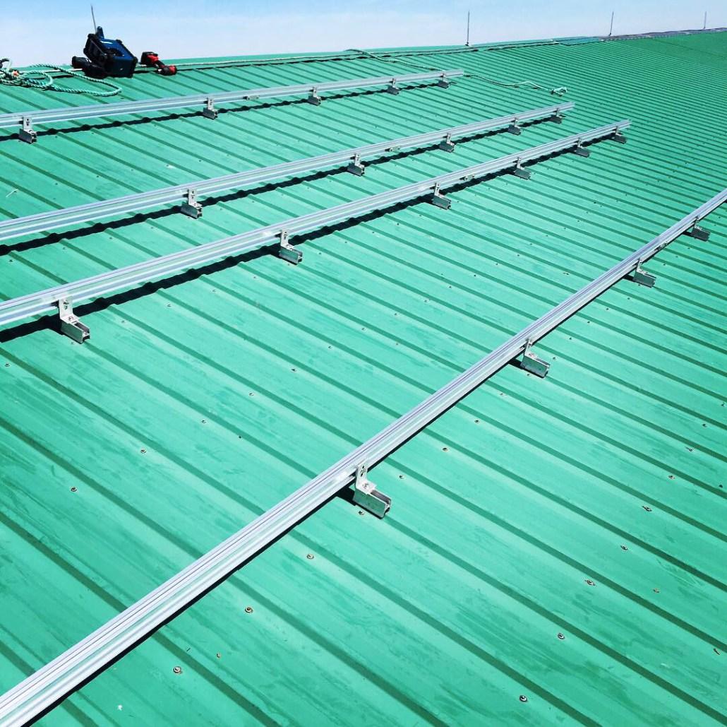 solar panels installed on a barn
