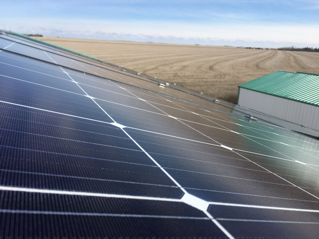 solar panels installed on your farm in saskatchewan