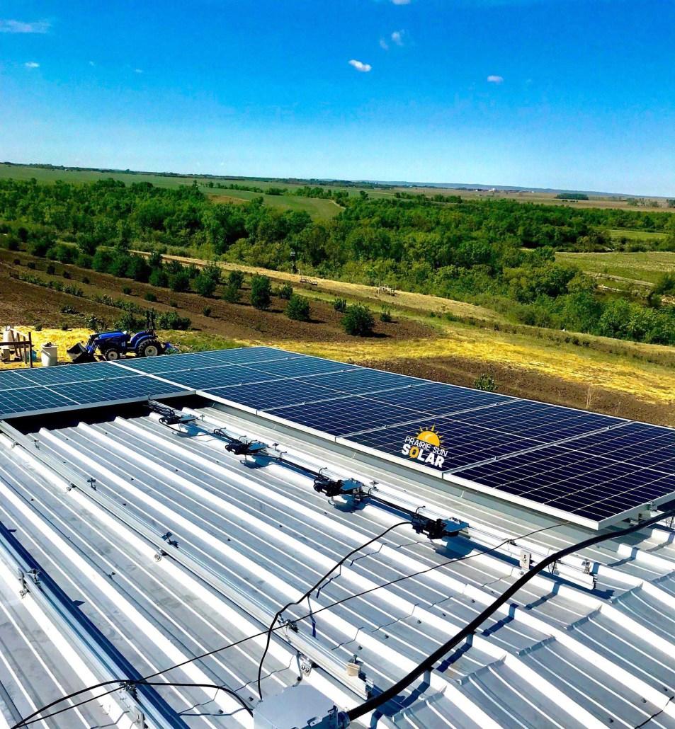 solar panels on the farm-sask solar install