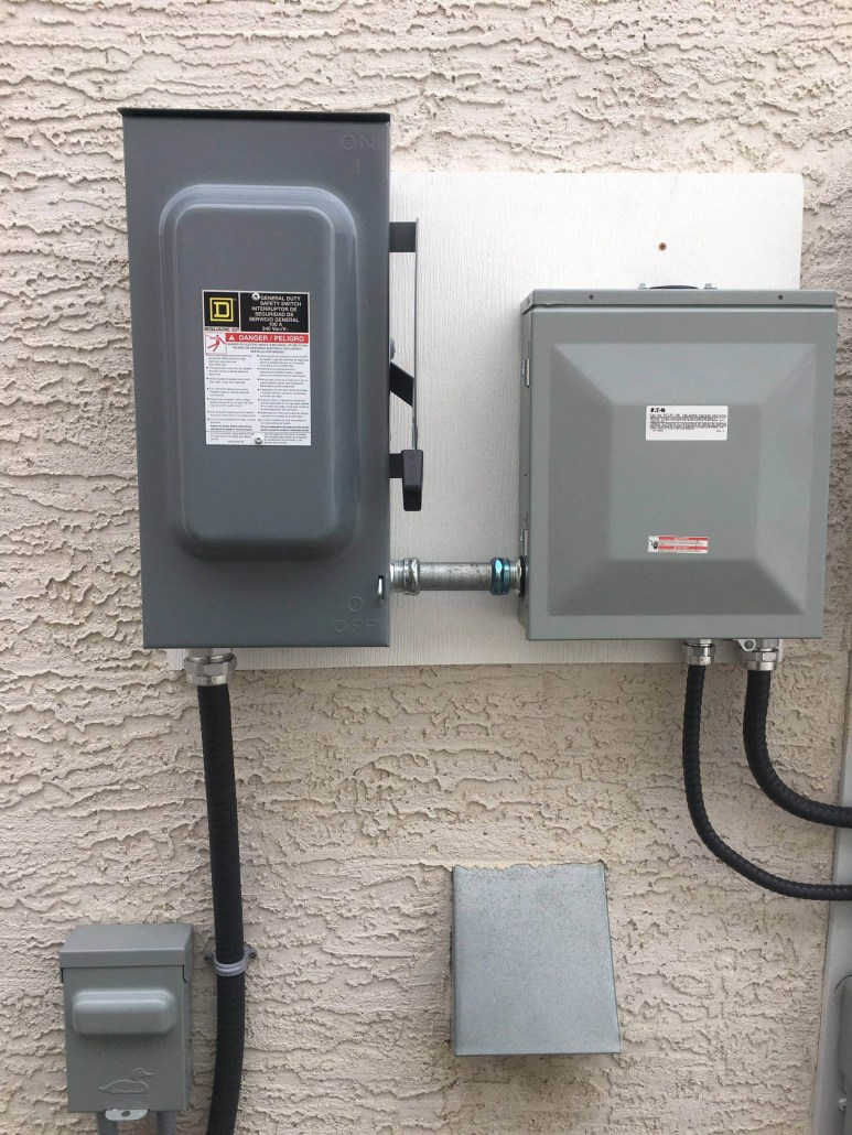 electrical hook up for your solar panels