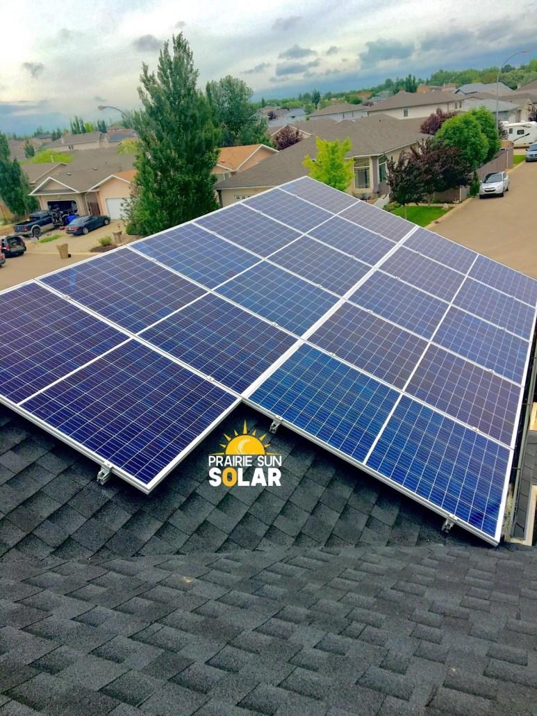 home solar installation - prairie sun solar