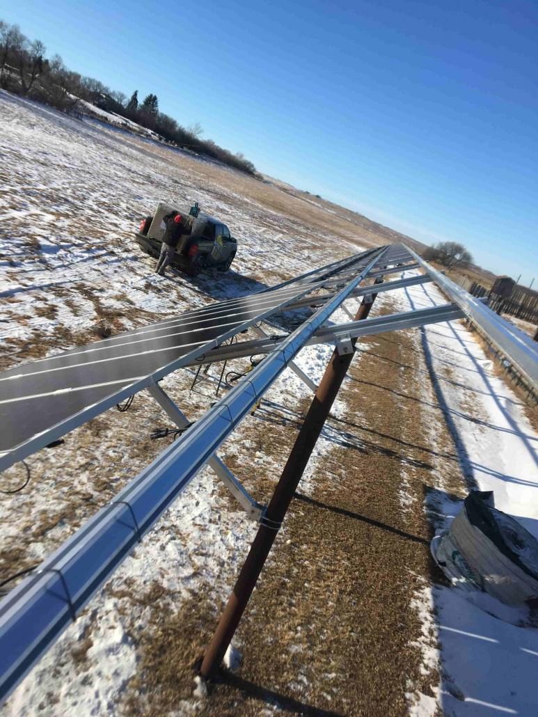 Solar Panels Ground Mount - Moose Jaw, Saskatchewan - Prairie Sun Solar